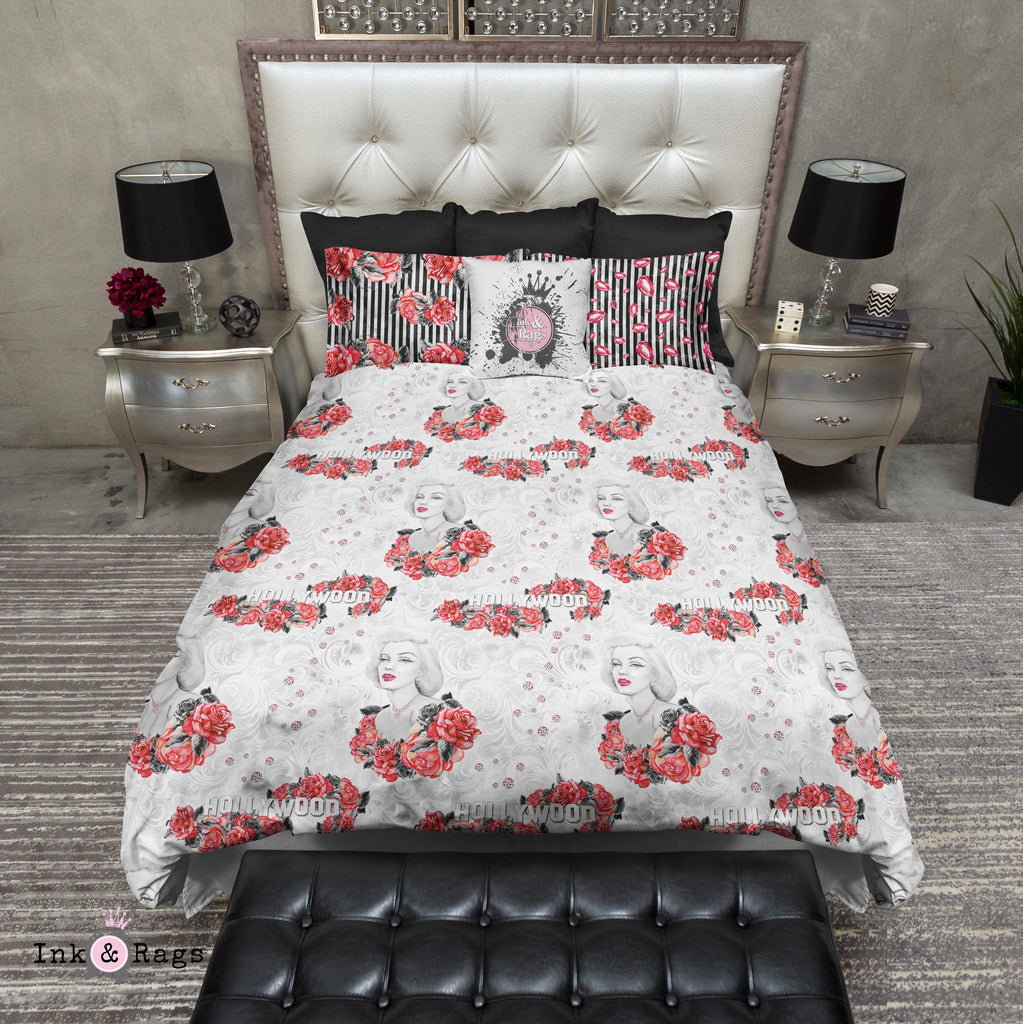 Hollywood Red Rose Marilyn Bedding Collection