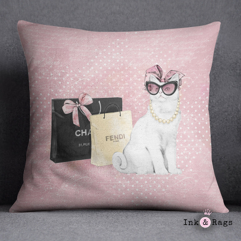 Little Miss Kitty Decorative Throw and Pillow Cover Set