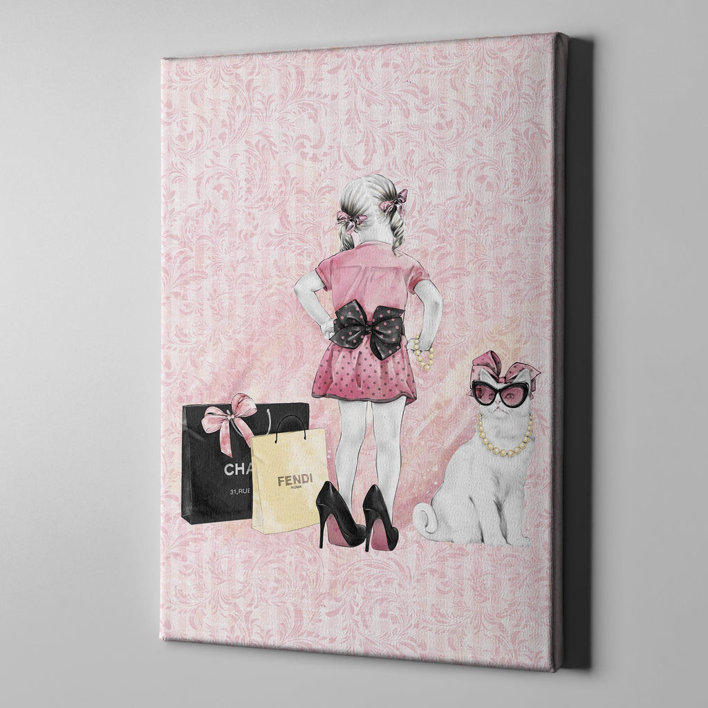 Little Miss Kitty Gallery Wrapped Canvas