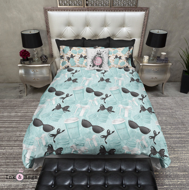 Coffee and Macaroons with Tiffany Fashion Bedding