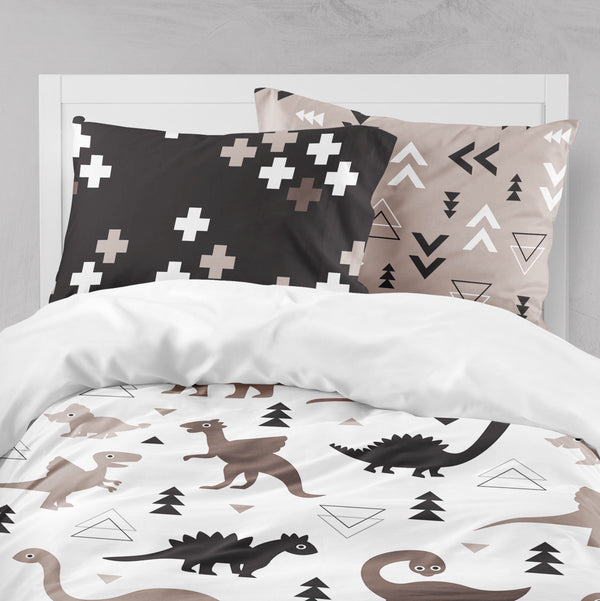 Geometric Dino Kids Dinosaur Big Kids Bedding