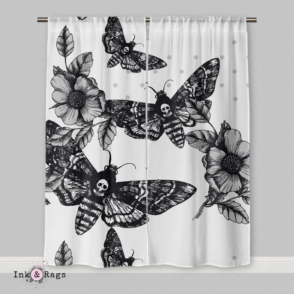 Death Moth and Flower Curtains
