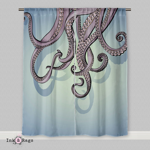 Purple Octopus Tentacle Curtains