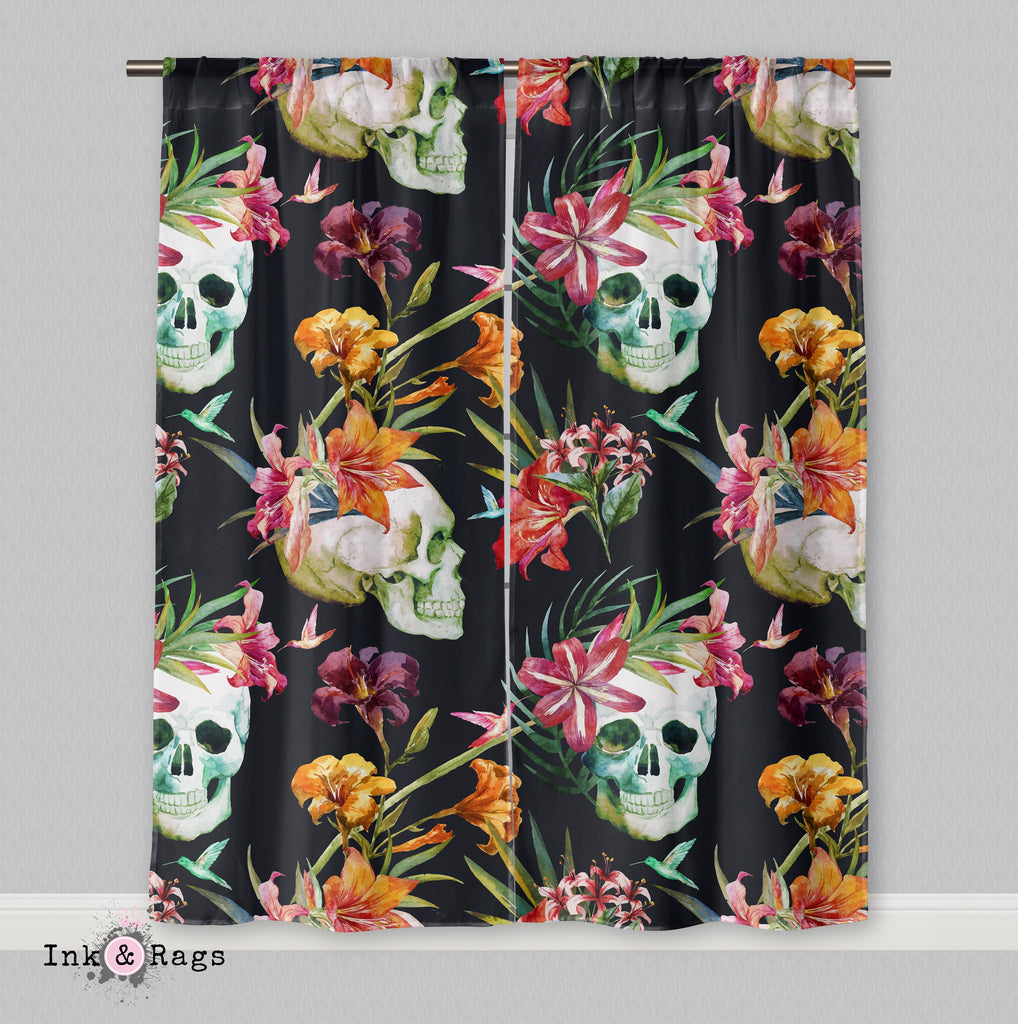 Tropical Skull Curtains