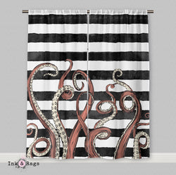 Octopus Tentacle Stripe Curtains