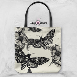 Death Moth and Flower Casual Tote