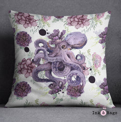 Succulent Octopus Ink Decorative Throw Pillow