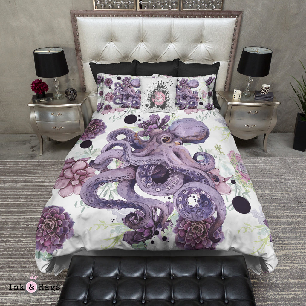 Succulent Octopus Ink Bedding Collection