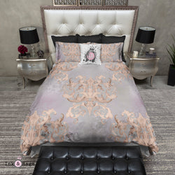 Dusk Watercolor Victorian Damask Bedding