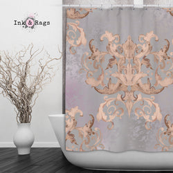 Dusk Watercolor Victorian Damask Shower Curtain