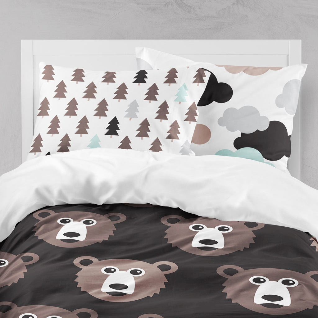 Fox and Bear Woodland Big Kids Bedding