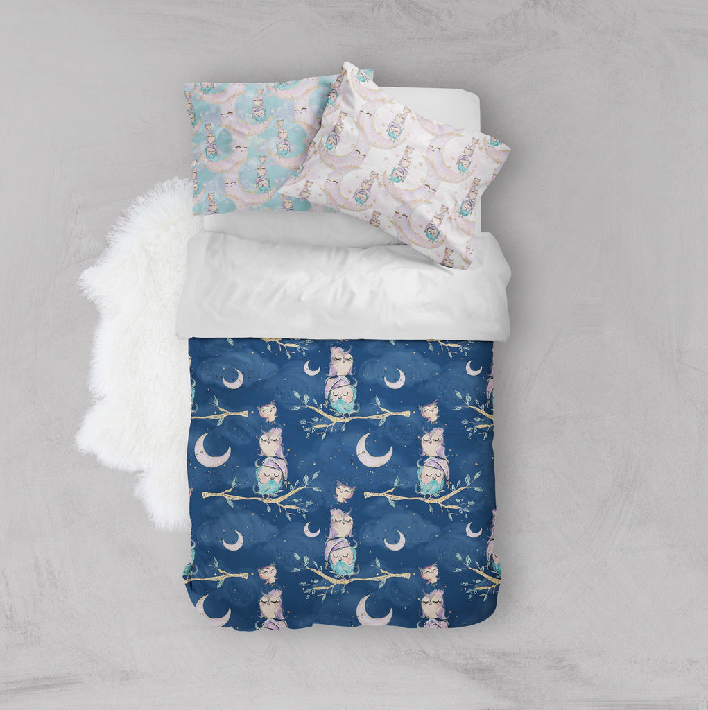 Night Owls Crib and Toddler Bedding