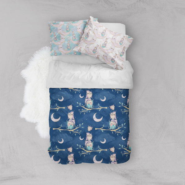 Night Owls Crib and Toddler Size Comforter Sets