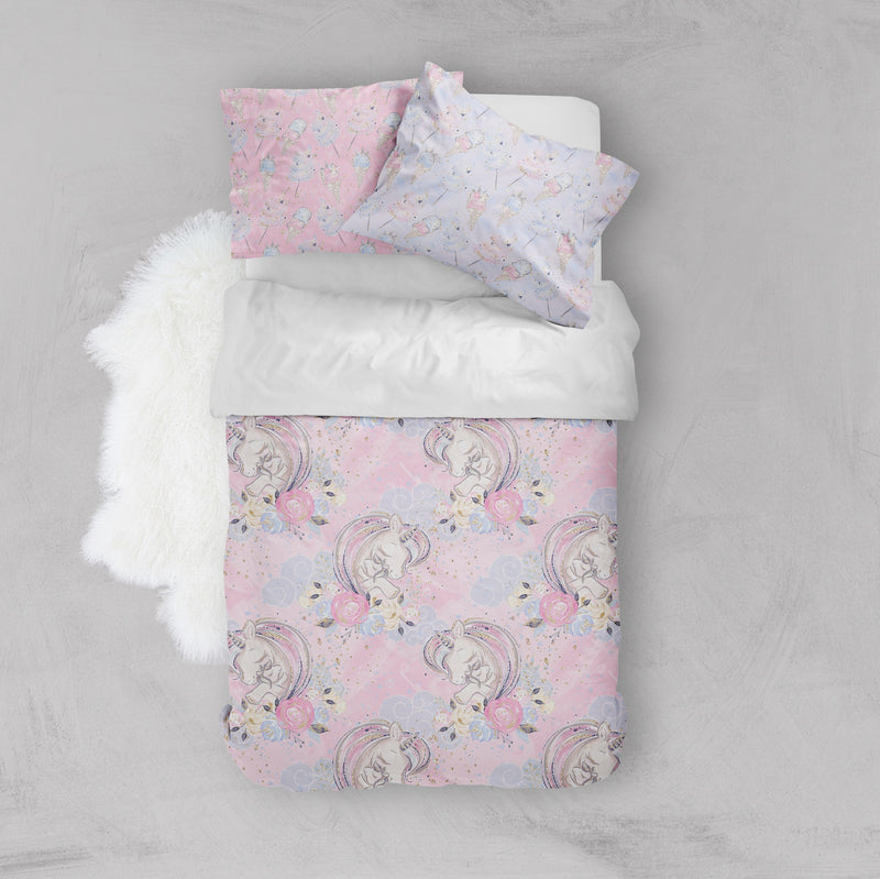 A Mothers Love Unicorn Crib and Toddler Size Comforter Sets