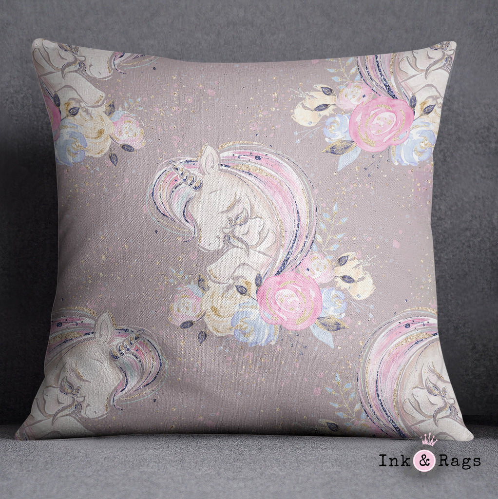 A Mothers Love Unicorn Decorative Throw and Pillow Cover Set