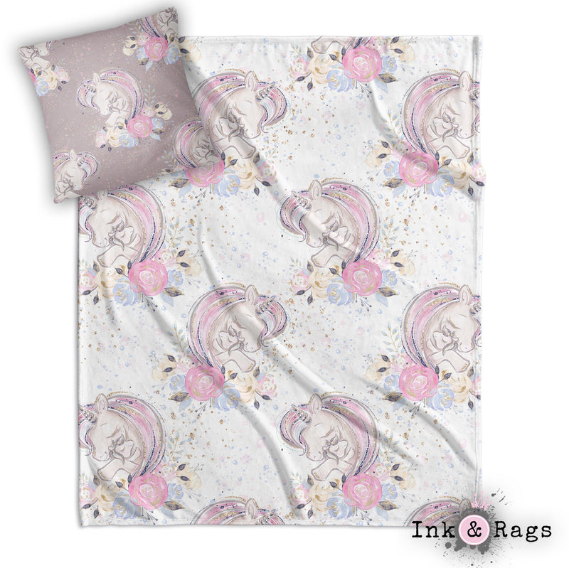 A Mothers Love Unicorn Decorative Throw and Pillow Set