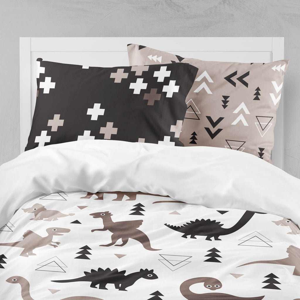 Geometric Dino Triangle Crib and Toddler Bedding Collection