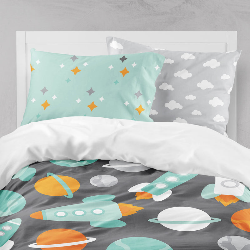 Space Kids Astronaut Crib and Toddler Size Comforter Sets
