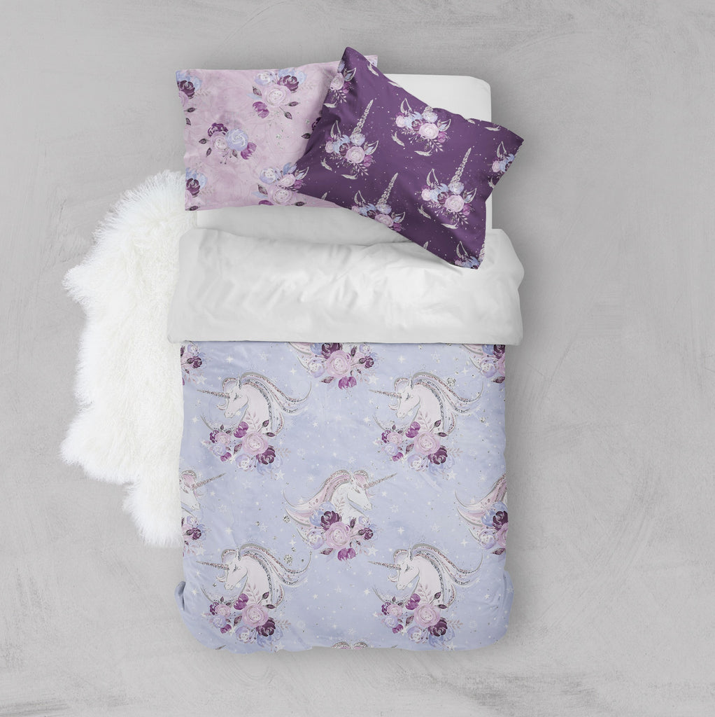Purple Unicorn Dreams Crib and Toddler Bedding