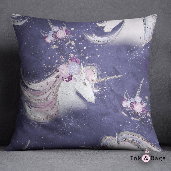 Purple Unicorn Dreams Crib and Toddler Size Comforter Sets