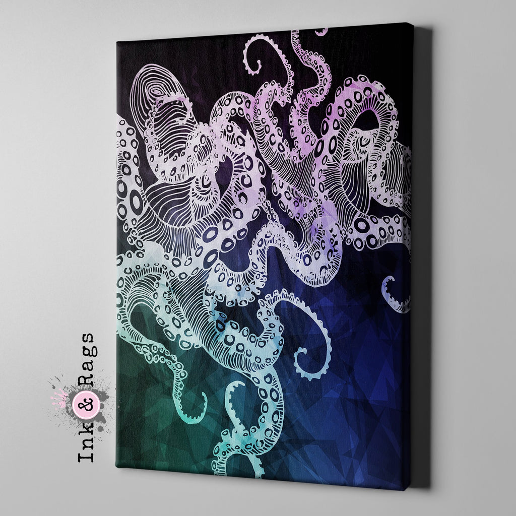 Midnight Octopus Gallery Wrapped Canvas