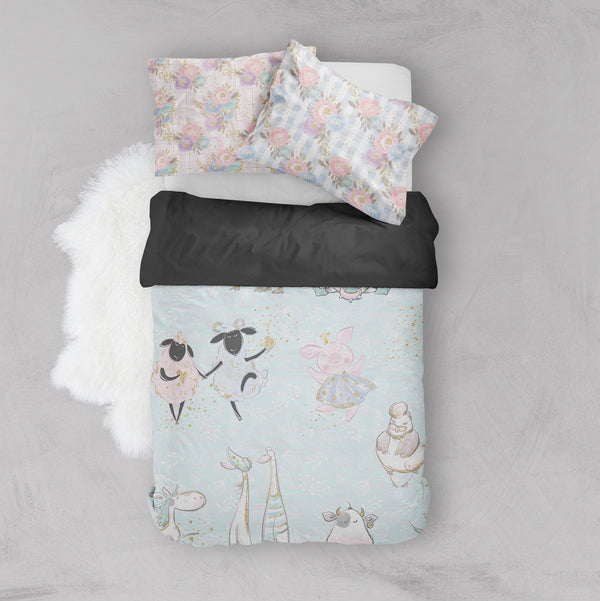 Fancy Farm Crib and Toddler Size Comforter Sets