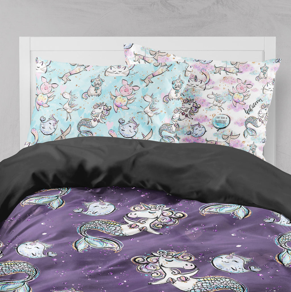 Mermicorn & Friends Rainbow Crib and Toddler Bedding Collection