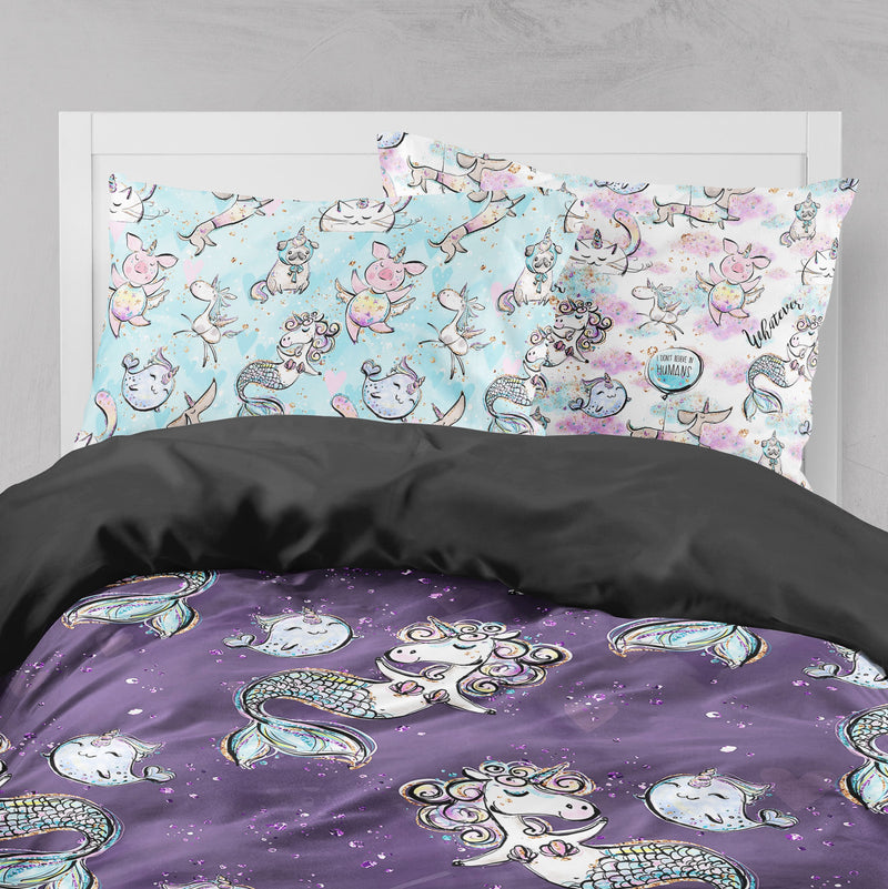 Mermicorn & Friends Rainbow Crib and Toddler Size Comforter Sets