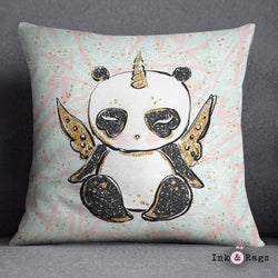 Morning Panda Pandacorn Decorative Throw Pillow Cover