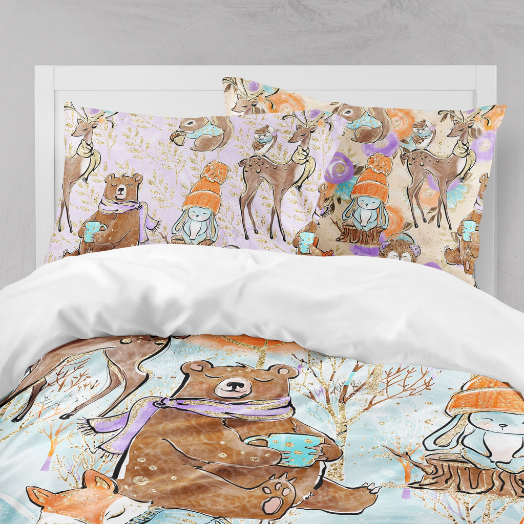 Winter Mornings Woodland Big Kids Bedding