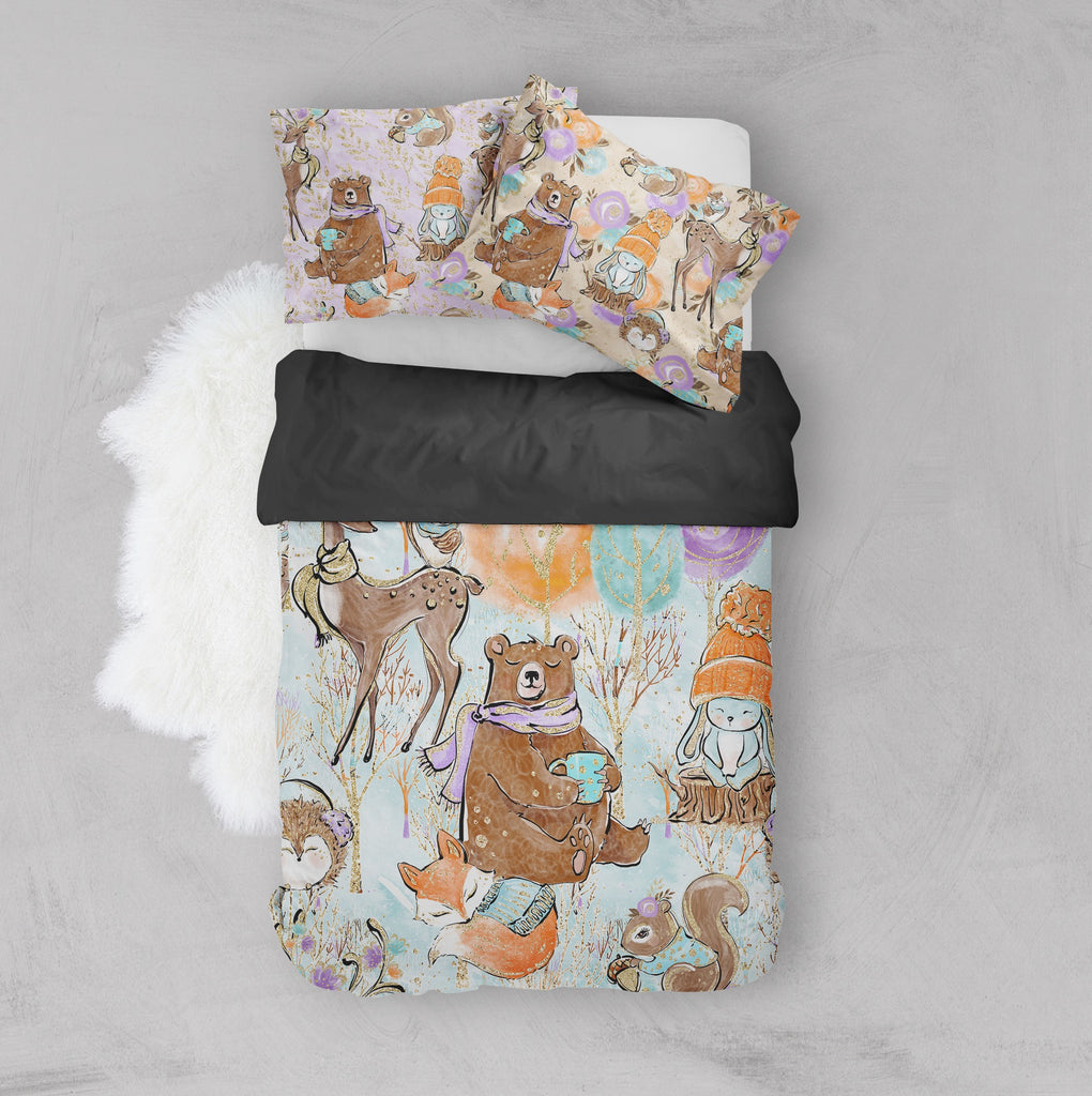 Winter Mornings Woodland Crib and Toddler Bedding