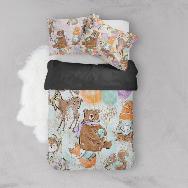 Winter Mornings Woodland Crib and Toddler Size Comforter Sets
