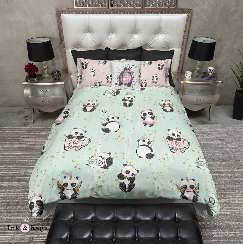 Not a Morning Panda ADULT Bedding