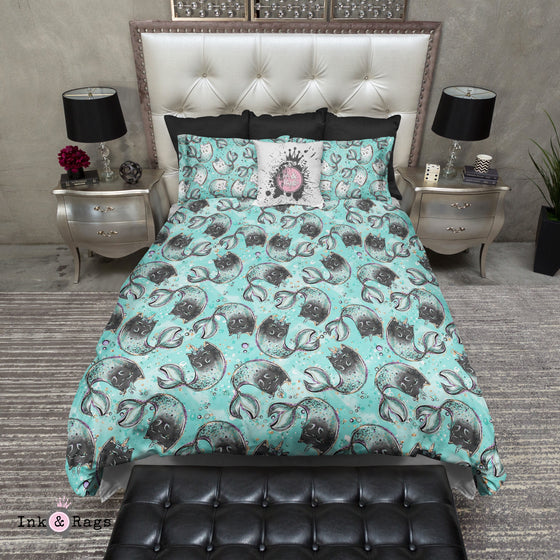 Black Mercat Unicorn Cat Bedding Bedding