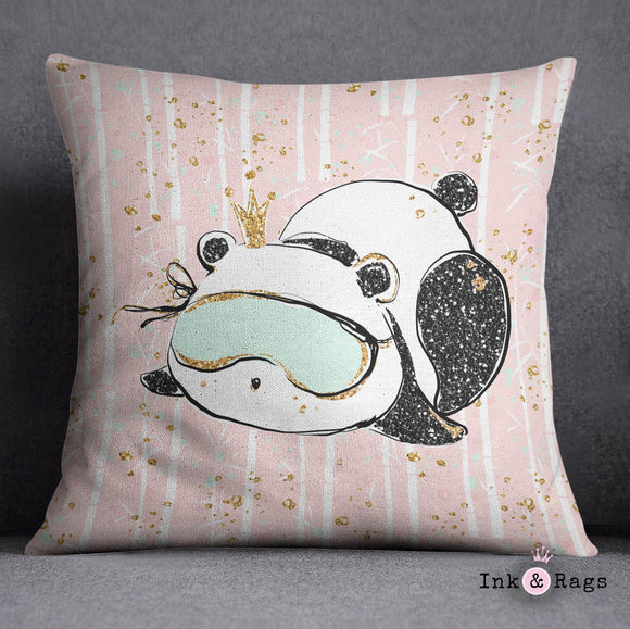 Morning Panda Decorative Throw Pillow