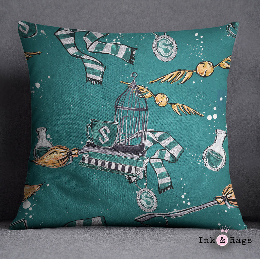 House of Slytherin Decorative Throw Pillow Cover