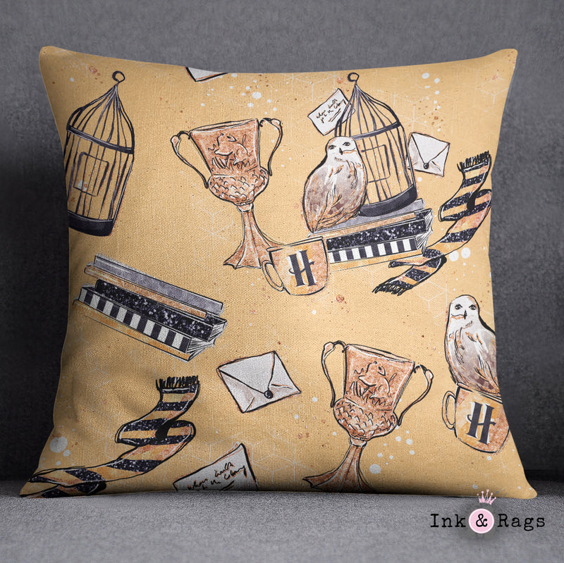 House of Hufflepuff Decorative Throw Pillow Cover