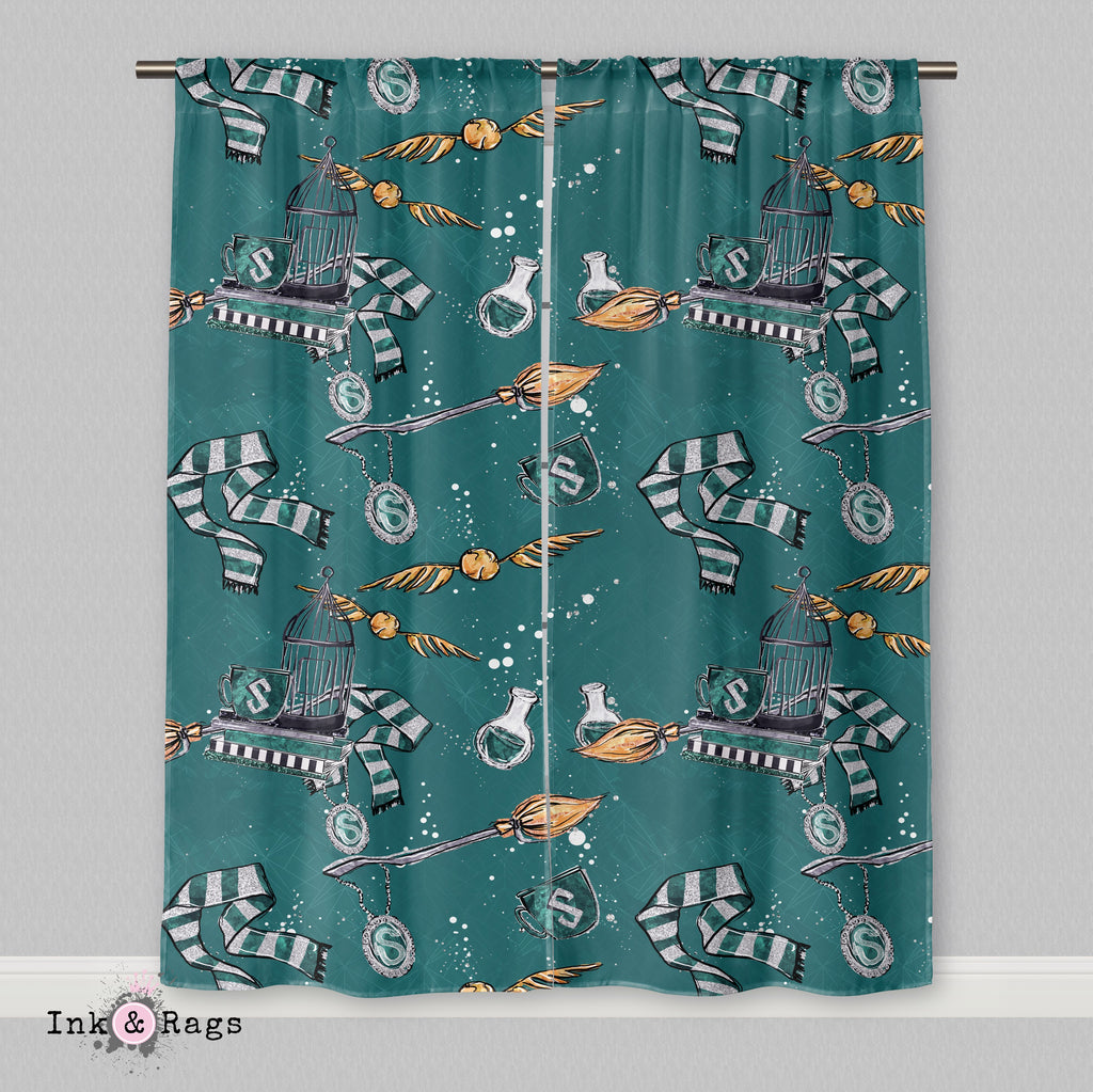 House of Slytherin Curtains