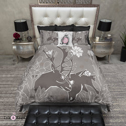 Buck and Doe Nuzzle Bedding Bedding