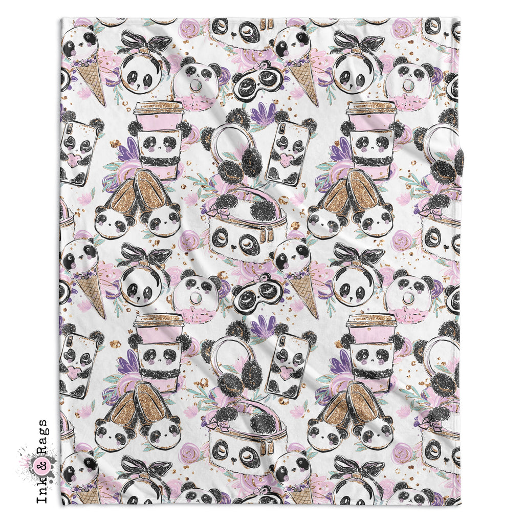 Panda Girl Fashion Crib and Toddler Bedding