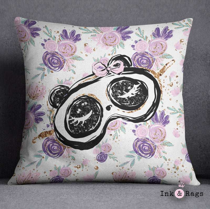Panda Girl Fashion Decorative Throw and Pillow Cover Set