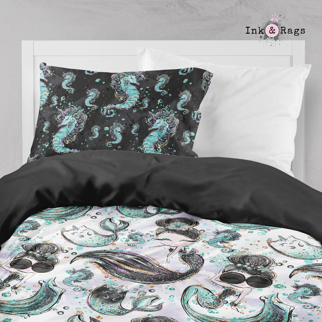 Breakfast At Tiffany Mermaid Mermicorn Fashion Crib and Toddler Bedding Collection