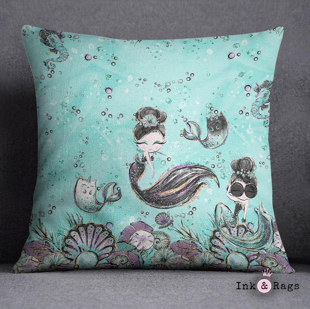 Breakfast At Tiffany Mermaid Mermicorn Fashion Crib and Toddler Bedding