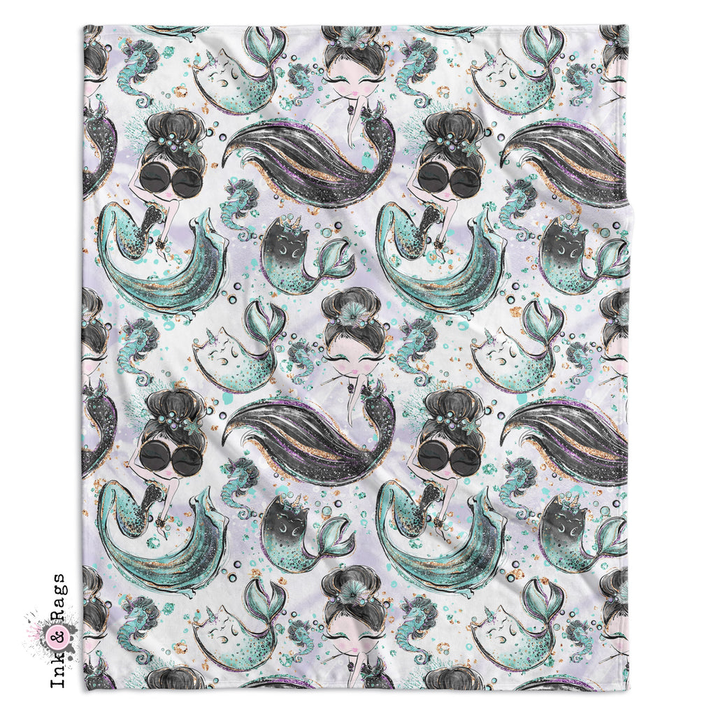Breakfast At Tiffany Audrey Mermicorn Fashion Crib and Toddler Bedding