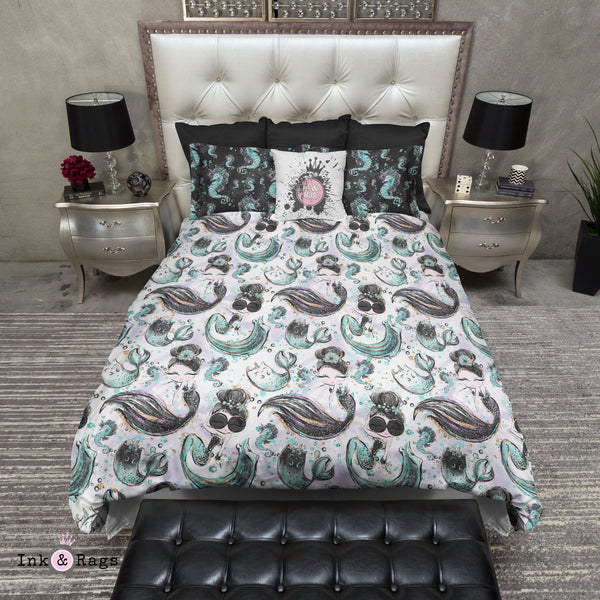 Breakfast At Tiffany Mermaid Mermicorn Fashion Bedding
