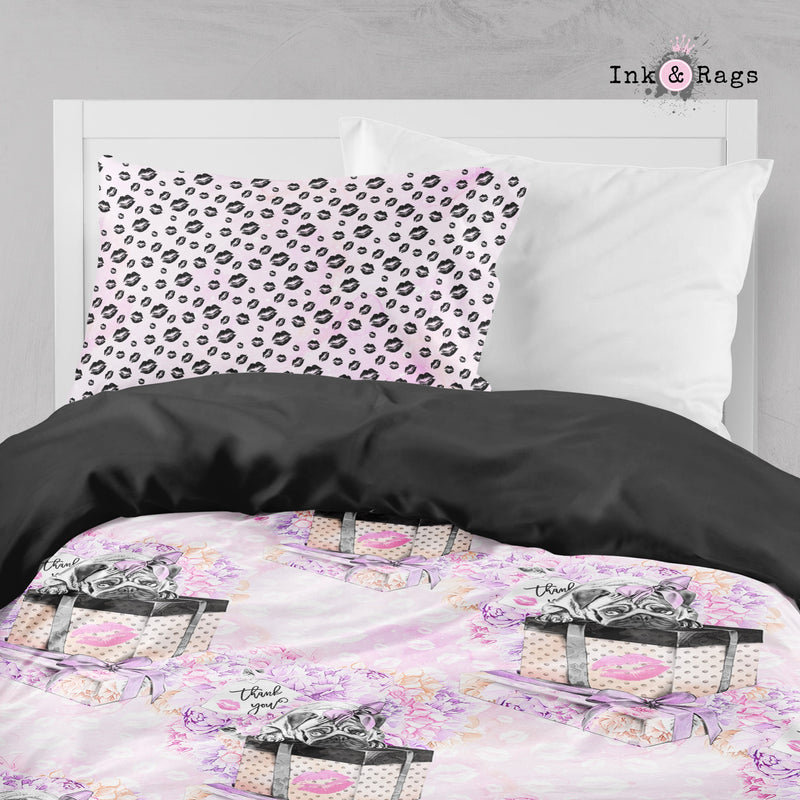 Pug Love A Girls Best Friend Fashion Crib and Toddler Size Comforter Sets