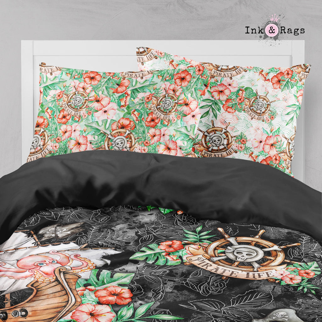 A Pirate's Life Hawaiian Crib and Toddler Size Comforter Sets