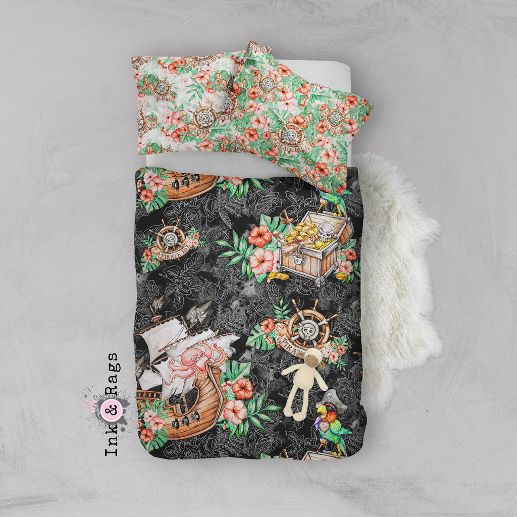 A Pirate's Life Hawaiian Crib and Toddler Bedding