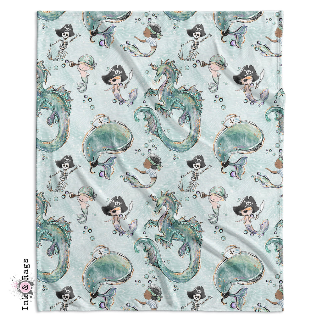 Majestic Merman and Merboy Pirate Dragon Crib and Toddler Bedding Collection