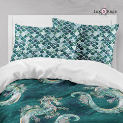 Emerald Dragon Scales Big Kids Bedding